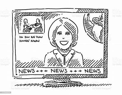 Drawing Anchor Television Air Istock Sketch Transparent