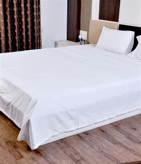 Linen Bedding White Plain Cotton Bedsheet  Buy Linen