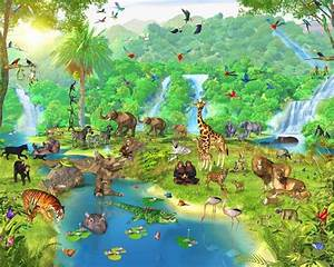 Jungle Animal Wallpaper - WallpaperSafari