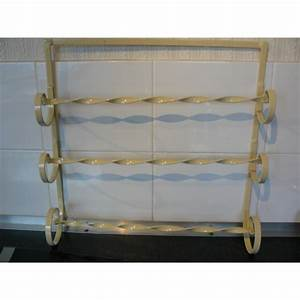 Towel rack wrought iron rail