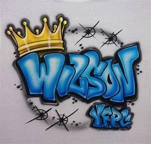 Airbrushed Personalized Shirt Graffiti Tagging Name Crown ...