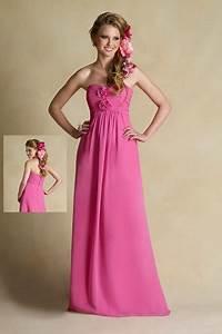 Black And Pink Junior Bridesmaid Dresses
