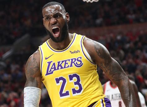lebron james wont stop  lakers return
