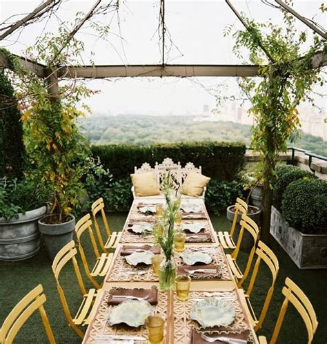 Roof Garden Decoration Ideas by 20 Best Rooftop Dinner Decorations Home Design And