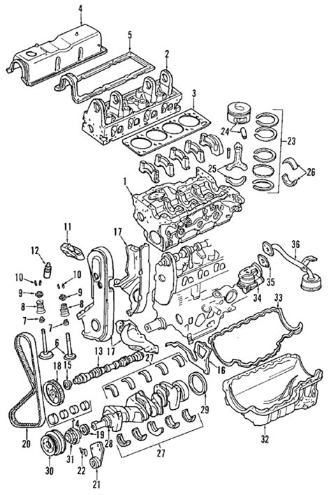 Parts Mazda Engine Short Block Partnumber