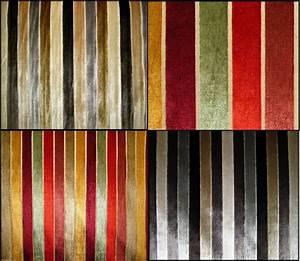 Belluti Wide Striped Velvet Designer Curtain Upholstery