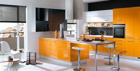 cuisine orange et noir davaus cuisine moderne noir et orange avec des