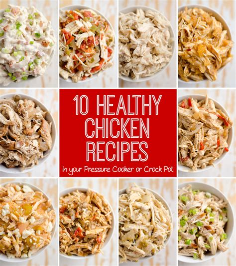 chicken healthy recipes pot crock cooker pressure electric instant crockpot ranch recipe slow bacon creamy cook shredded meals food meal