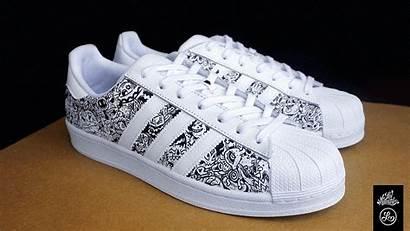 Doodle Shoes Custom Pair Superstars Behance Cleaner