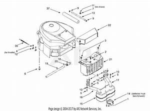Mtd 13au604h401  2001  Parts Diagram For Engine