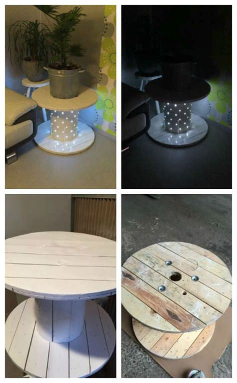 Transformer Un Touret En Table Basse How To Transform A Reel Into A Coffee Table Comment Transformer Un Touret En Table Basse