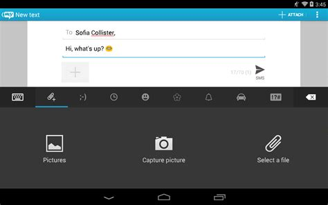 best texting app for android tablet sms texting from tablet sync screenshot