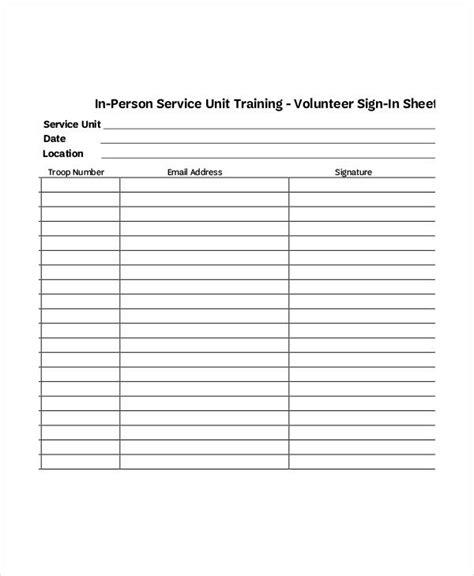 volunteer sign up sheet template volunteer sign in sheet templates 14 free pdf documents free premium templates