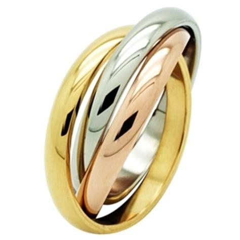interlocking steel cubic zirconia ring
