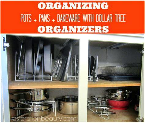 Restoration Beauty: Organizing Pots Pans Bake Ware With