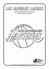 Coloring Nba Lakers Basketball Logos Teams Angeles Los Cool Conference Clubs Sheets Colouring Western Clippers Dibujos Pacific Template Warriors Jersey sketch template