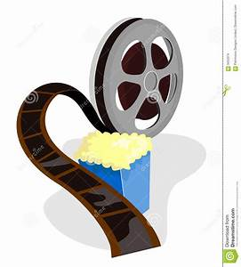 Movie Film Reel With Popcorn Stock Images - Image: 3453374