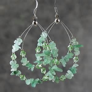 hoop earing green jade big tear drop hoop earrings bridesmaids gifts free