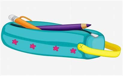 Pencil Case Clipart Cartoon Stationery Clipartix Worksheet