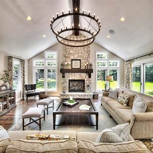 great room interior design living room traditional with ...