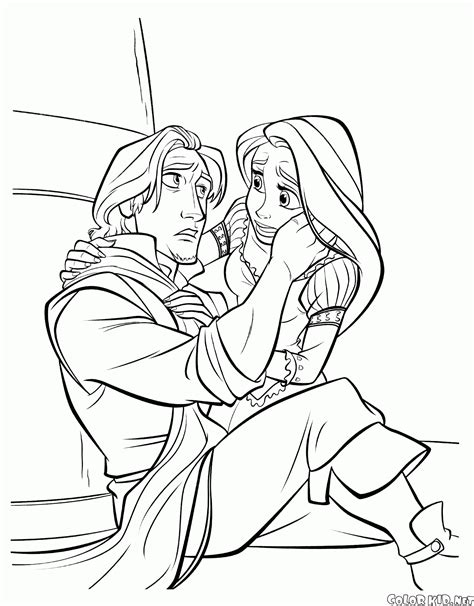 Flin En Flo Kleurplaat by Coloring Page Gothel And Rapunzel