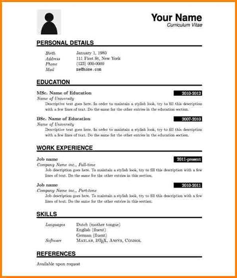 free pdf resume templates 9 professional cv format pdf quote templates