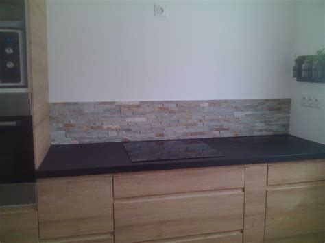 cuisine en brique photo crédence en parement de naturelle décoration cuisine gard 30