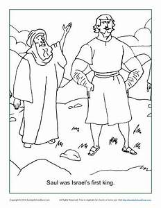 Saul Was Israelu002639s First King Coloring Page Childrenu002639s