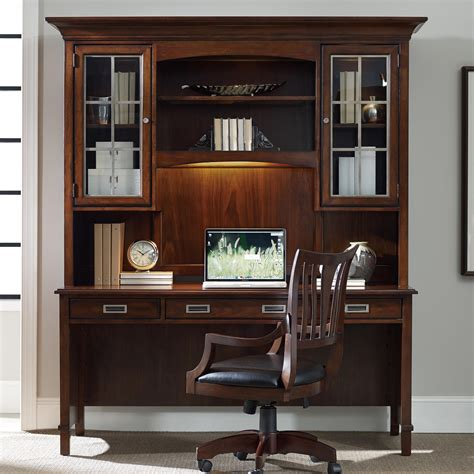desk and hutch set hooker furniture latitude walnut new vintage desk and