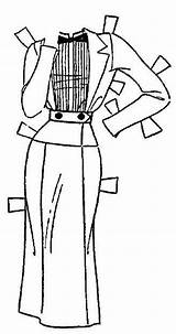 Paper Dolls Fanny Flapper Newspaper Ironwood Doll Coloring Globe Michigan Spring Suits Suit 1936 Apr Daily sketch template