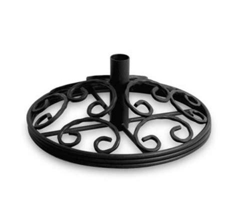 waymar b120 patio umbrella stand 20 in diameter wrought iron