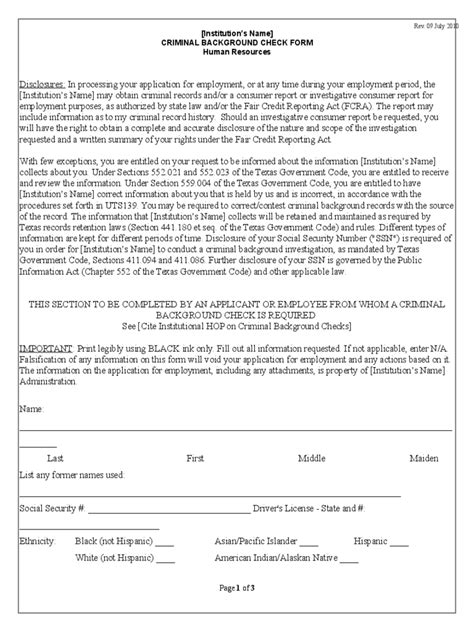 Free Employment Background Check Background Check Form 3 Free Templates In Pdf Word