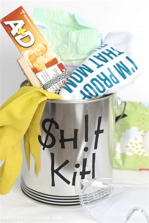 funny baby shower gift daddy doody duty kit  girl