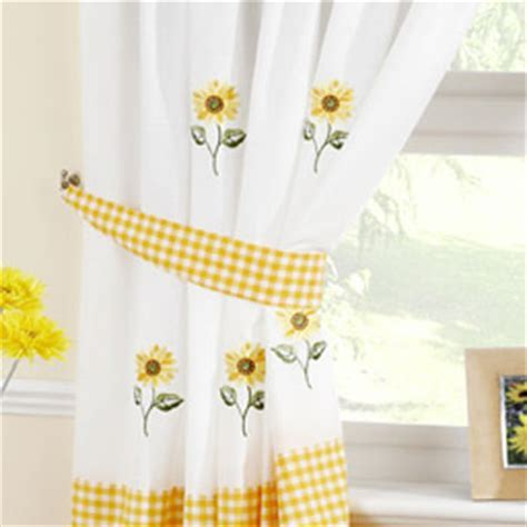 Sunflower Kitchen Curtain   Kitchen Curtains   Curtains
