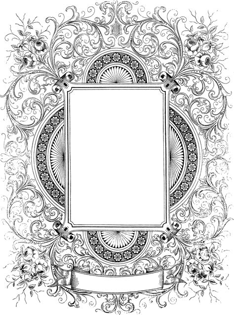 Ornate Decorative Border Clip Art  Oh So Nifty Vintage