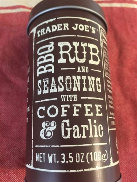 This is seasonal, so if you are curious about this then it is time to pick it up. Trader Joe's Coffee Rub Seasoning with Garlic - Trader Joe's Reviews