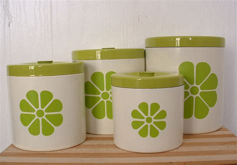 green kitchen canisters sets kitchen canister set with lids lime green by timelesschick