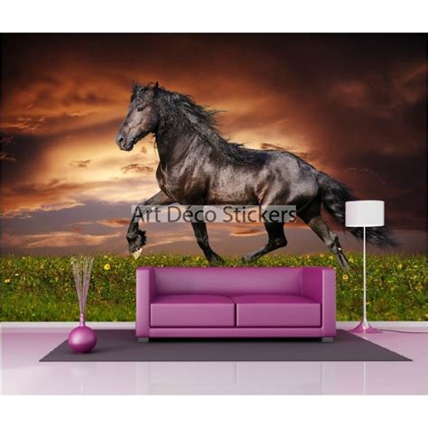 stickers muraux g 233 ant d 233 co cheval noir stickers muraux deco