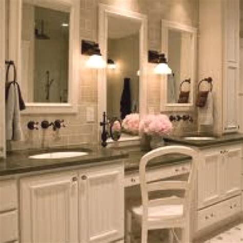 master bathroom vanity with makeup area makeup vanity in master bath new house