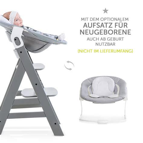 hauck hochstuhl holz baby kinder alpha  grey bis