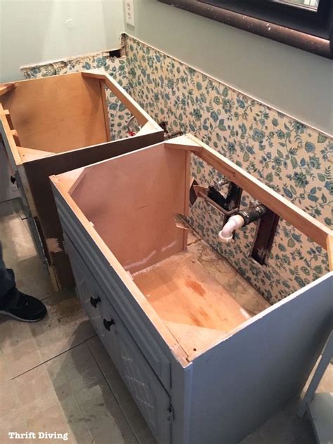 how to remove an old bathroom vanity thrift diving blog