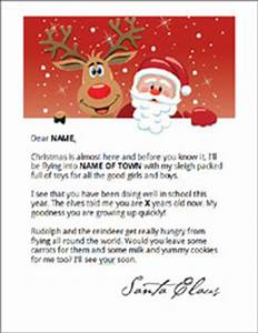 How to get free letters from santa for the kids sweeties for Create your own letters from santa