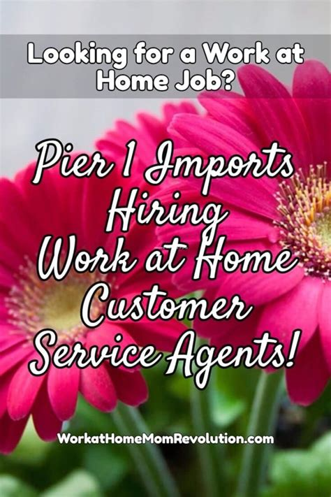 Pier Jobs by Pier 1 Imports Work At Home Customer Service Jobs Work