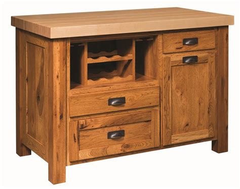 amish kitchen islands mission kitchen island with butcher block top