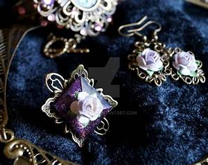 Gothic Purple rose ring by Cyanida on DeviantArt