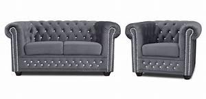 Chesterfield Sofa Stoff : chesterfield sofa 3 2er sitzer sessel bett graphit stoff premium b rom bel ebay ~ Whattoseeinmadrid.com Haus und Dekorationen