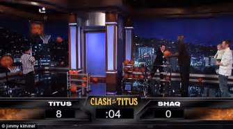 clash of the titus shaquille o neal vs the 2 year toddler titus ashby who crushes him on