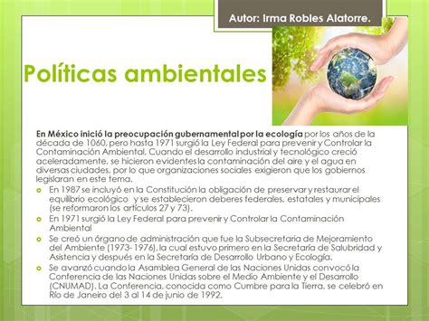 Blog Irma Robles : Políticas ambientales Módulo 15