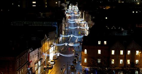 rooftop view shows guildford christmas lights get surrey