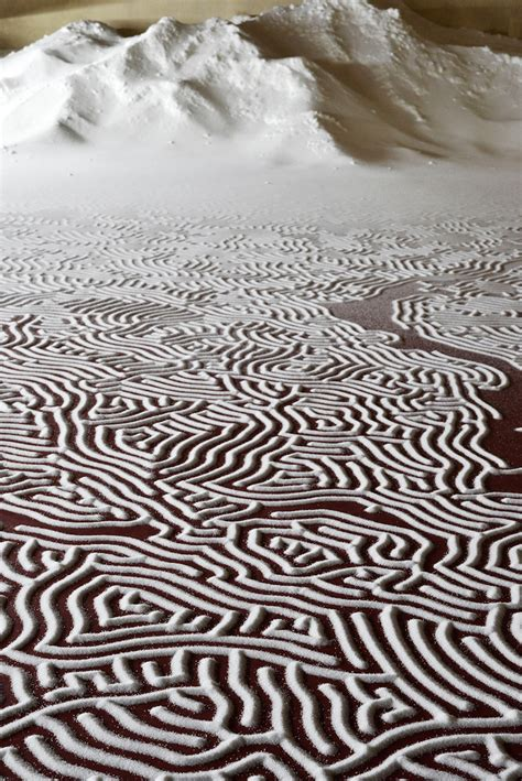 labyrinths  poured salt  motoi yamamoto cover  floors   french castle colossal